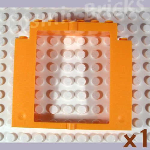 LEGO Medium Orange Door Frame 2x8x6 Swivel without Bottom Notches 40253 (single,N)