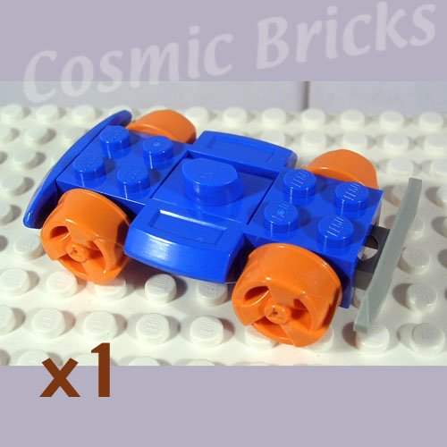 LEGO Blue Vehicle Base 4x6 Racer Base Wheels and Bumpers (single,N)