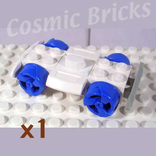 LEGO White Vehicle Base 4x6 Racer Base Wheels and Bumpers (single,N)