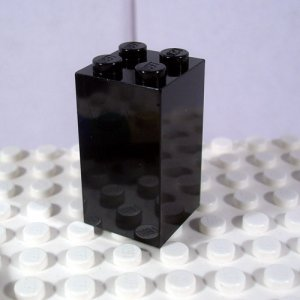 LEGO Black Brick 2x2x3 4113241 (single,N)
