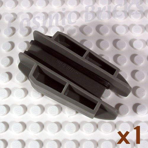 LEGO Dark Gray Rubber Band Belt Holder 6x3x3 40607 (single,N)