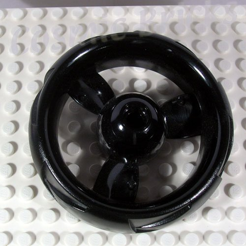LEGO Black Wheel 68mm ZNAP Propeller 9x2 (single,N)