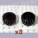 LEGO Black Hard Plastic Tire 41864 (8 pack,N)