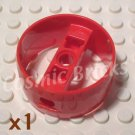 LEGO Bright Red Technic Cylinder 4x4 Pin Holes Center Bar 4159542 4296548 4570494 41531 (single,N)
