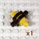 LEGO Yellow ZNAP Connector 3x3 4 way C (single,N)