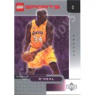 LEGO Upper Deck Shaquille O'Neal Los Angeles Lakers Chrome trading card