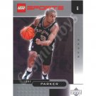 LEGO Upper Deck Tony Parker San Antonio Spurs Chrome trading card