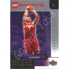 LEGO Upper Deck Toni Kukoc Milwaukee Bucks Gold Leaf trading card