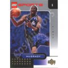 LEGO Upper Deck Tracy McGrady Orlando Magic Gold Leaf trading card