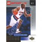 LEGO Upper Deck Jerry Stackhouse Detroit Pistons Gold Leaf trading card