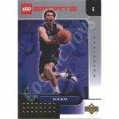 LEGO Upper Deck Steve Nash Dallas Mavericks Gold Leaf trading card