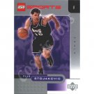LEGO Upper Deck Peja Stojakovic Sacramento Kings Chrome trading card
