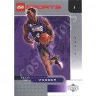 LEGO Upper Deck Chris Webber Sacramento Kings Chrome trading card
