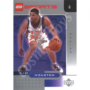 LEGO Upper Deck Allan Houston New York Knicks Chrome trading card