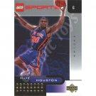 LEGO Upper Deck Allan Houston New York Knicks Gold Leaf trading card