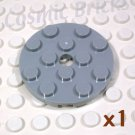 LEGO Light Bluish Gray Plate Round 4x4 Pin Hole 4515351 (single,N)