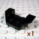 LEGO Black Vehicle Mudguard 2x4 Flared Wings 4163939 4184813 41854 (single,N)