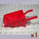 LEGO Red Minifig Utensil Wheelbarrow 4646527 (single,N)