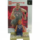 LEGO Jason Kidd NBA minifig, stand and chrome trading card (single,N)