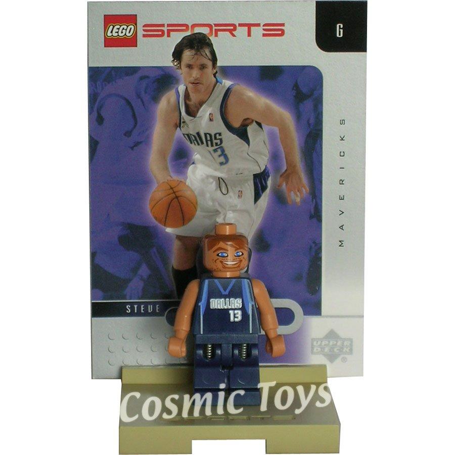 LEGO Steve Nash NBA minifig, stand and chrome trading card (single,N)