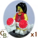 LEGO Collector Series 8 Red Cheerleader minifigure (single,N)