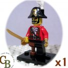LEGO Collector Series 8 Pirate Captain minifigure (single,N)