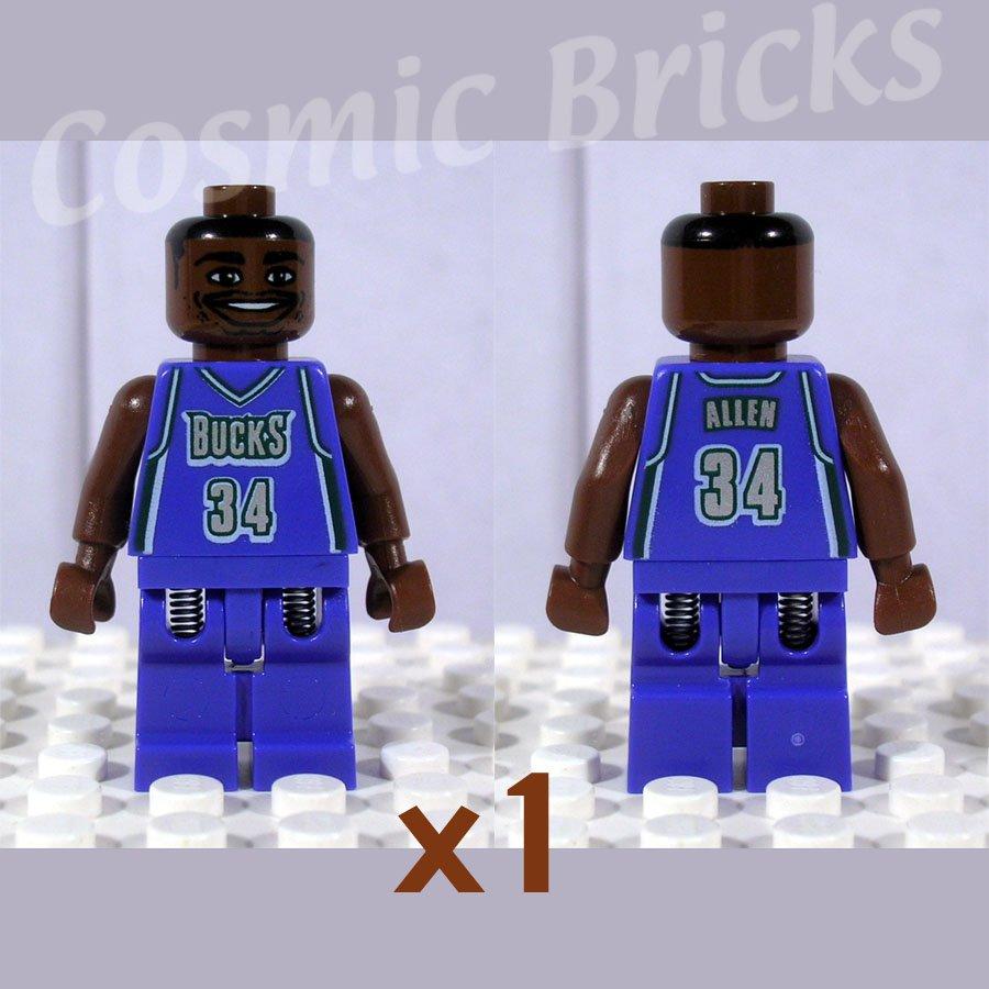 LEGO NBA Ray Allen Milwaukee Bucks #34 minifigure (single,N)