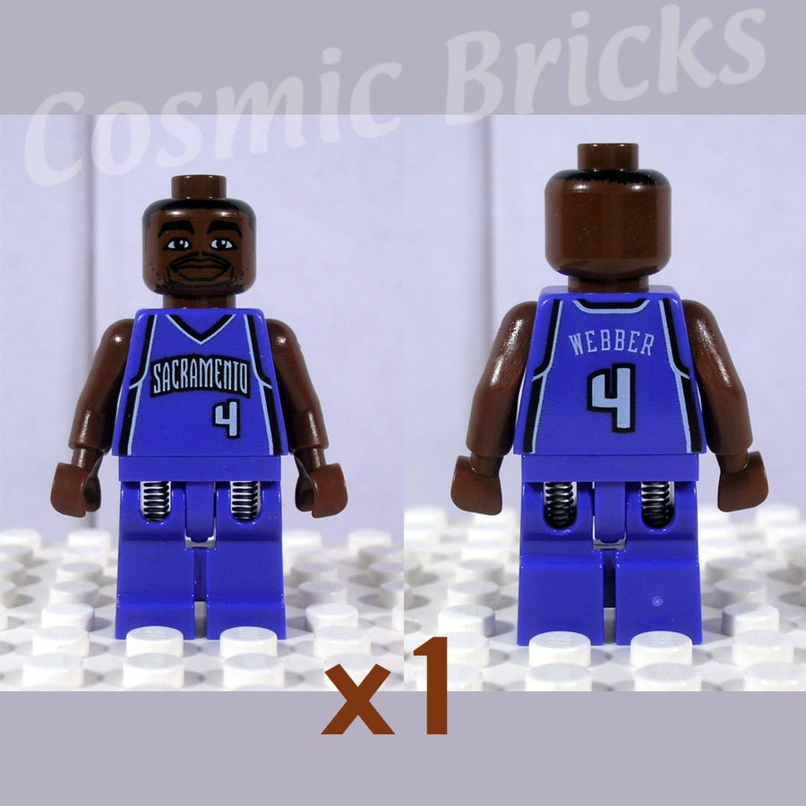 LEGO NBA Chris Webber, Sacramento Kings #4 minifigure (single,N)