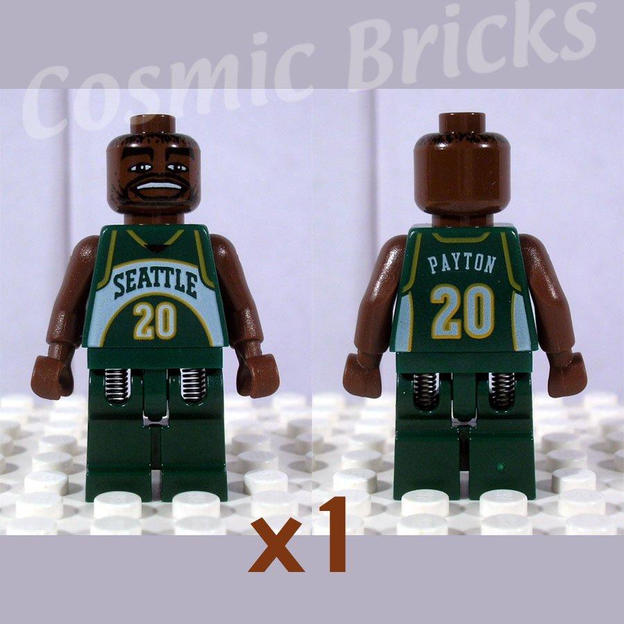LEGO NBA Gary Payton Seattle SuperSonics #20 minifigure (single,N)