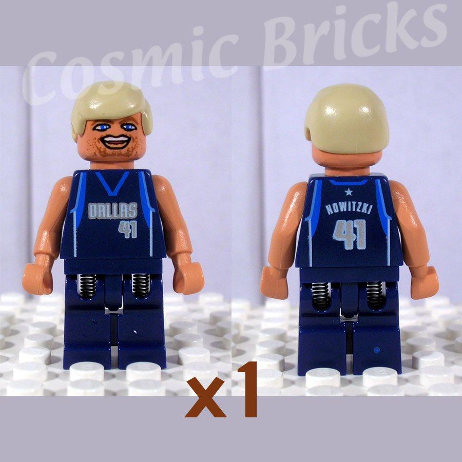 LEGO NBA Dirk Nowitzki Dallas Mavericks #41 minifigure (single,N)