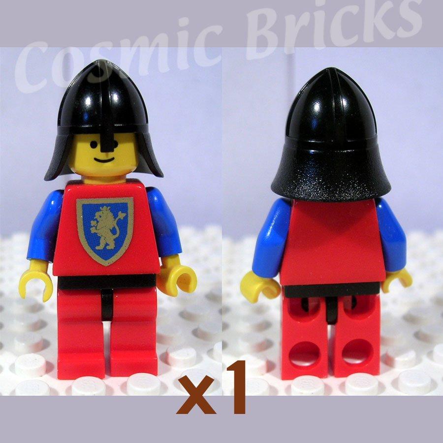 LEGO Castle Crusader Lion Red Legs Black Hips Black Neck-Protector (single,U)