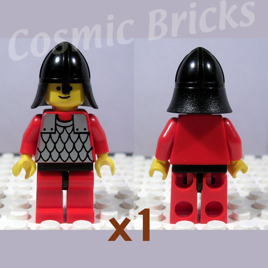 LEGO Castle Scale Mail Red Arms Red Legs Black Hips Black Neck-Protector (single,U)