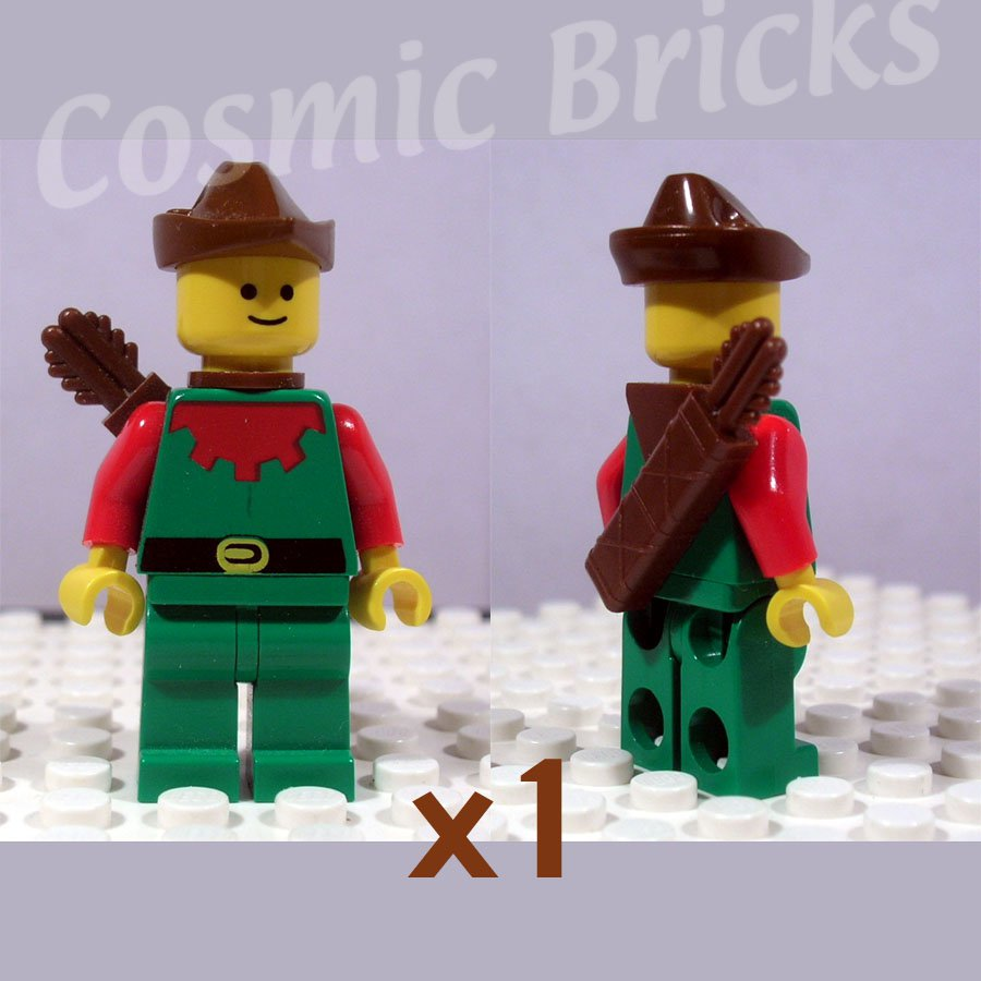 LEGO Forestman Red Brown Hat Yellow Feather Quiver (single,U)