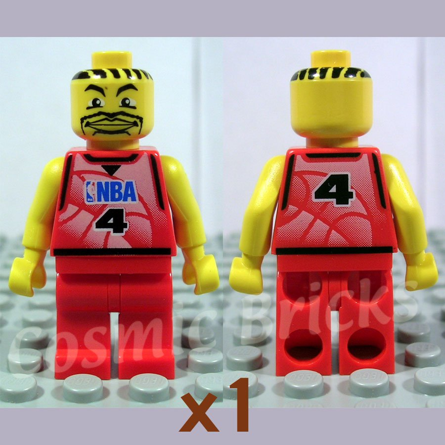 SOLD OUT - LEGO NBA player Number 4 Red Non-Spring Legs (single,N)