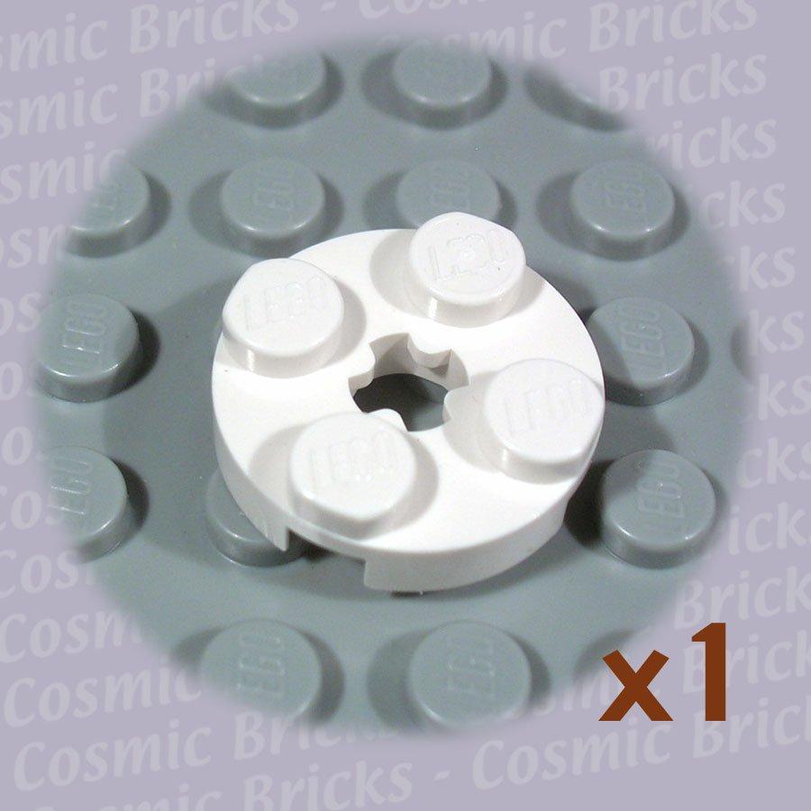 LEGO White Plate Round 2x2 Axle Hole 403201 4032 (single,N)