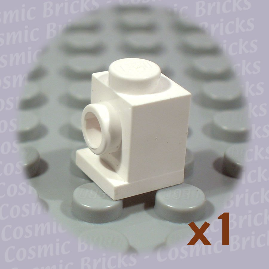 LEGO White Brick Modified 1x1 Headlight 407001 4070 (single,U)