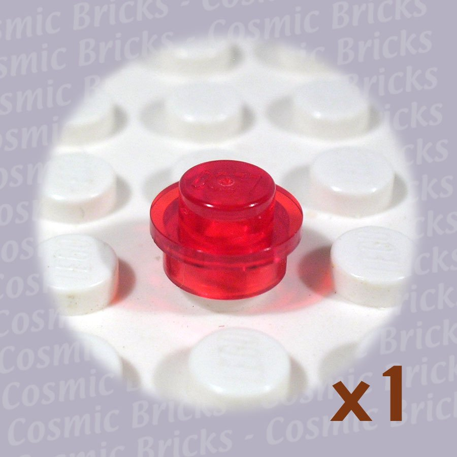 LEGO Trans-Red Plate Round 1x1 3005741 30057 (single,U)