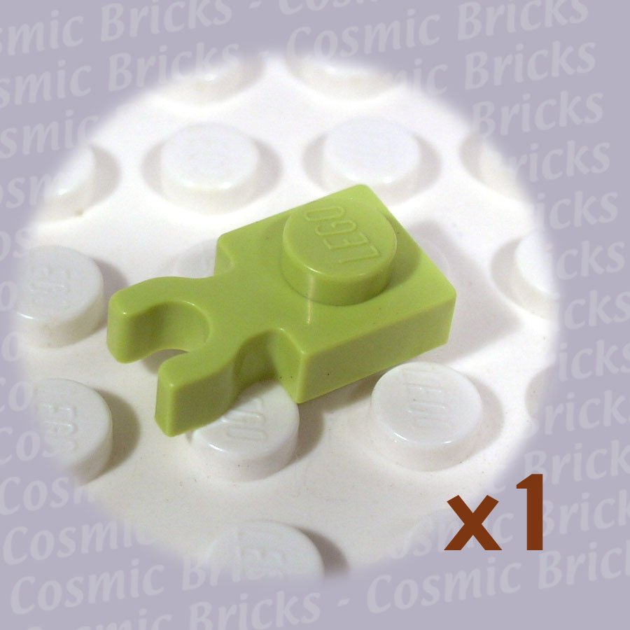LEGO Medium Lime Plate Modified 1x1 Clip Vertical 4262029 4085 (single,N)