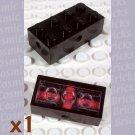 LEGO Black Brick Modified 2x4 Wheels Holder Freestyle 4180 (single,U)