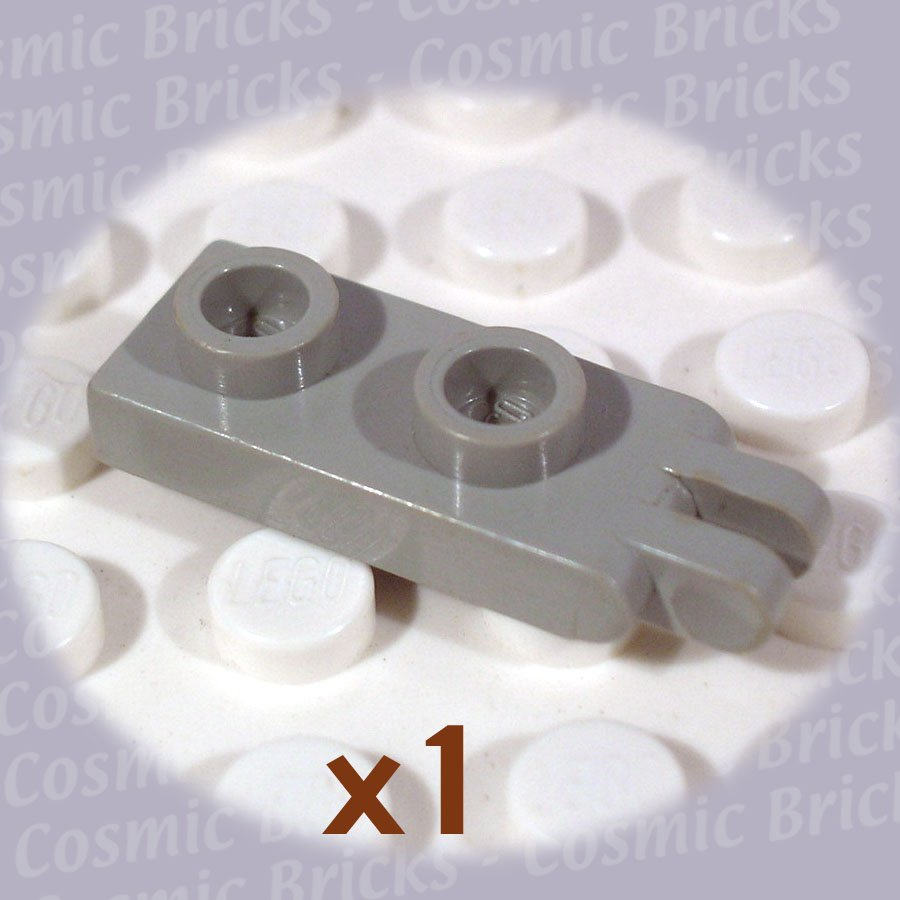 LEGO Light Gray Hinge Plate 1x2 2 Fingers 4276 (single,U)