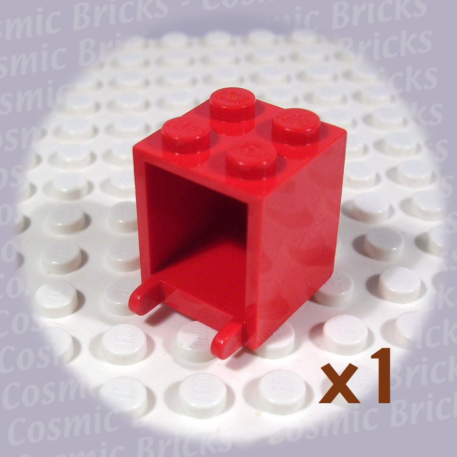 LEGO Red Container Box 2x2x2 Solid Studs 434521 4345 (single,U)