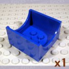 LEGO Blue Container 4x4x2 Bottom Semicircle Cut-out Ends 446123 4461 (single,N)