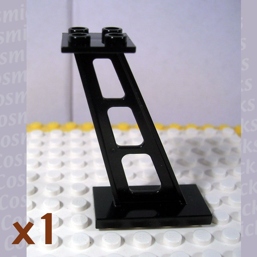 LEGO Black Support 2x4x5 Stanchion Inclined 447626 4476 (single,U)