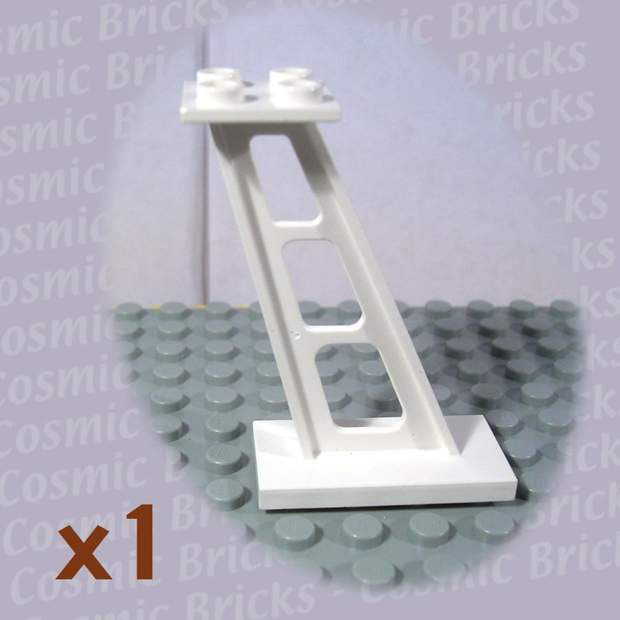 LEGO White Support 2x4x5 Stanchion Inclined 4142125 4476 (single,N)