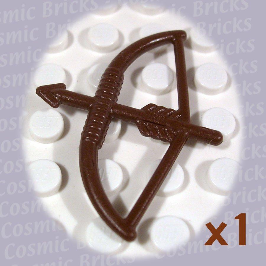LEGO Brown Minifig Weapon Bow Arrow 4499 (single,N)