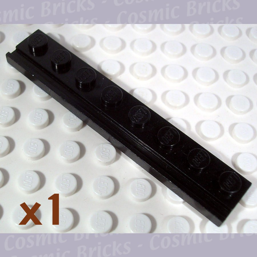 LEGO Black Plate Modified 1x8 Door Rail 4286009 4510 (single,U)