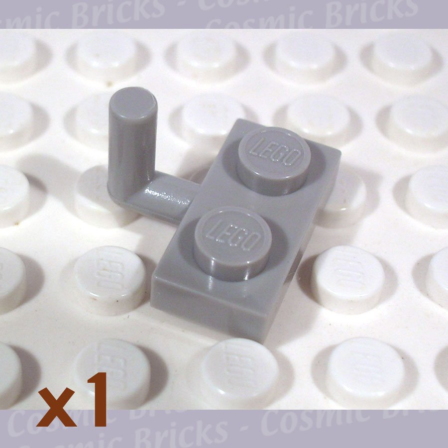 LEGO Light Gray Plate Modified 1x2 Arm Up 462302 4623 (single,N)