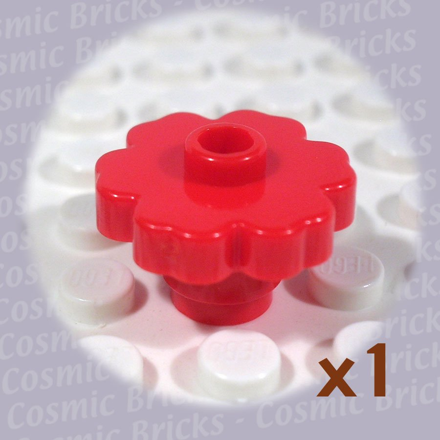 LEGO Red Plant Flower 2x2 Rounded 472821 4728 (single,N)