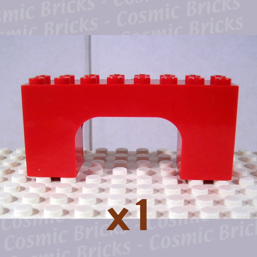 LEGO Red Brick Arch 2x8x3 474321 4743 (single,U)