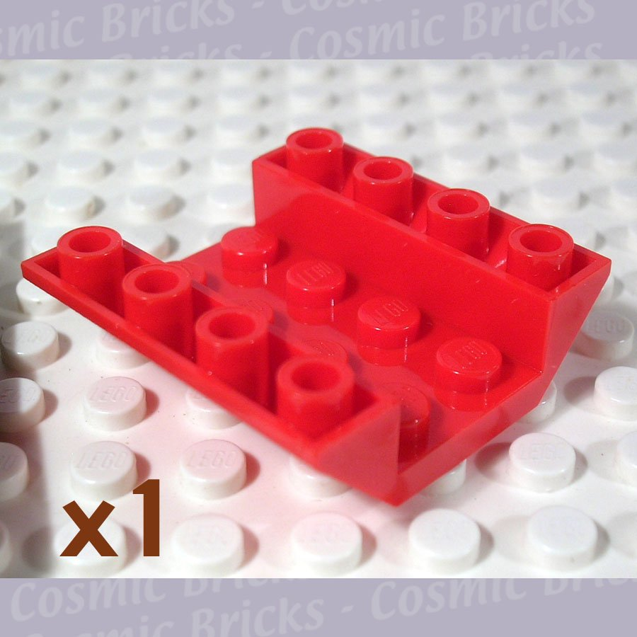 LEGO Bright Red Slope Inverted 45 4x4 Double 4603489 4854 (single,N)
